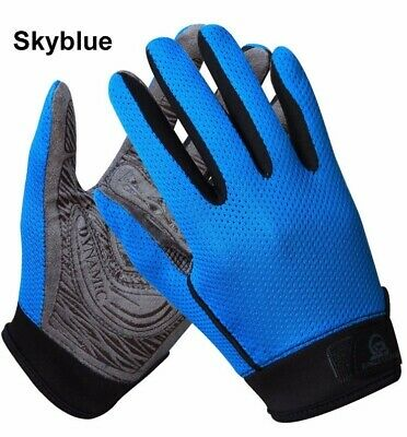 New Outdoor Sports Full Finger Cycling Climbing Mesh Anti-Slip Thickened  Gloves