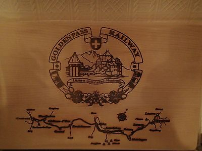 "Switzerland's Goldenpass Railway Map made out of wood 10"" x 6"""