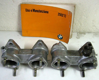 Bmw 2002 Ti Used And Original Intake Manifold For Double Body Carburetors (122)