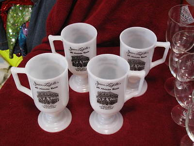 FOUR Lafitte's Absinthe House Bourbon St New Orleans 1950s Mugs Glass FREE SHIP