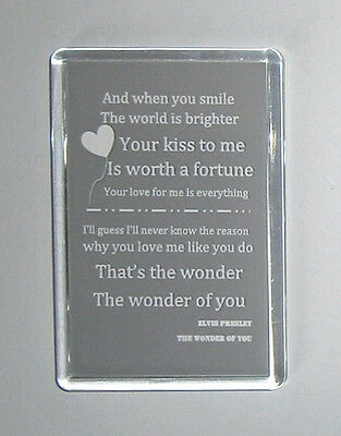 Elvis Presley The Wonder Of You lyrics movie poster fridge magnet Keyring New