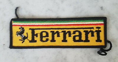 FERRARI Vintage Medium Embroidered Patch FCA 328 365 308 246 Dino 512 BB 400