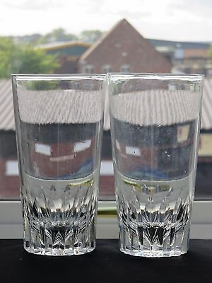 Large Crystal Cut Glass Tumblers Set Of 2