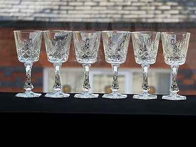 Lovely Cut Glass Crystal Liqueur Glasses Set Of 6
