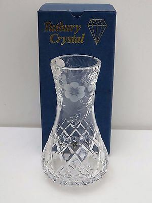 Tutbury Beautiful Design Cut Glass Crystal Vase, Home  Deco Boxed,15.5Cm Tall