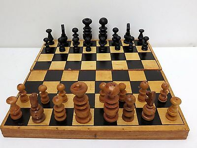Hand Carved Foldable Wooden 2-In-1 Chess & Backgammon Set