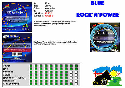 """Weiss Cannon - """"Blue Rock`n Power"""" 1,20 *absolutely new String* 200m Reel"""
