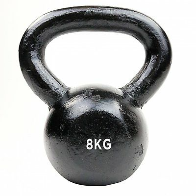NEW! 8kg Cast Iron Kettlebell Weight Training Fitness Workout Gym