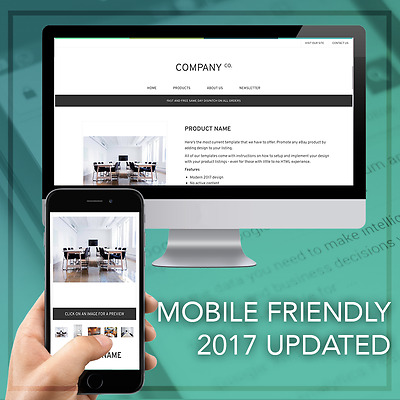 eBay Responsive Listing Template Mobile Friendly Design 2017
