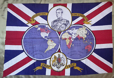 Rare Vintage King Edward VIII Coronation Flag