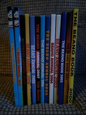 Beano Annual Collection 2000-2012 X13 All Near Mint/Mint Condition