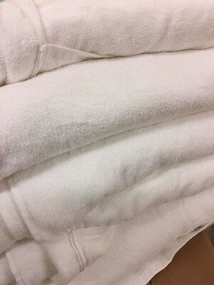 5 x Large Towels/Treatment Bed Sheets, soft white, for spa or beauty