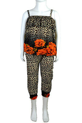 50% OFF SALE  New Kids Girls Leopard Animal Floral Printed Trouser Top Set