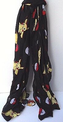 Woman's Pokemon Pikachu  Viscose Oblong  Sheer Infinity Scarf New With Tags!