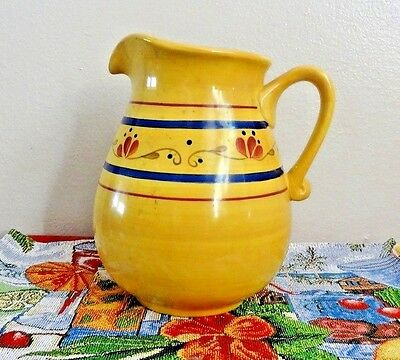 Home and Garden Party Stoneware Large Pitcher Home and Garden Collection