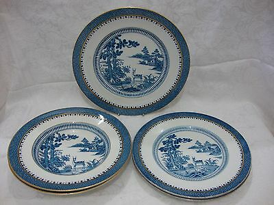 Booths Lowestoft Deer Blue & White Transferware Table Ware Bowls & Plates VGC