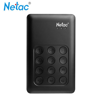1Tb External Hard Drive With Password Protection Security Key Pad Code Lock Safe