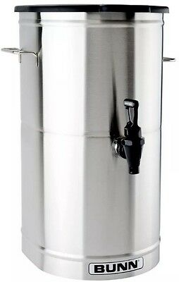 NEW Bunn 5 Gallon Iced Tea Dispenser with Brew-Through Lid Stainless Steel TDO-5
