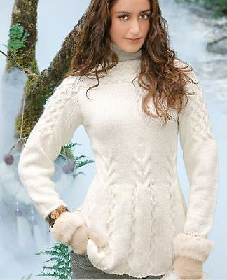 Knitting Pattern Lady's Gorgeous Aran Cable Sweater 84-102 cm     (31)