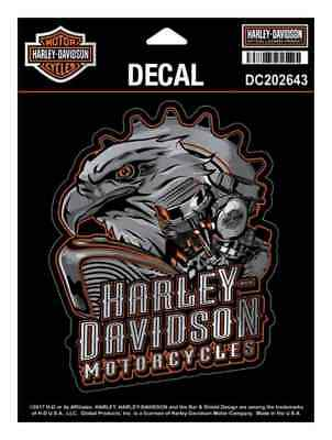 Harley-Davidson Eagle Engine Ultra Decal, Chrome MD Size 4.375 x 5.5 in DC202643