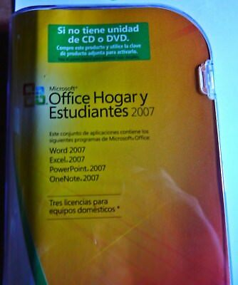 FULL Retail (3-Users) Microsoft Office 2007 Home and Student ENGLISH/Spanish NEW