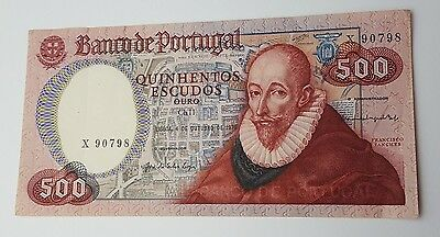 Vintage - Portugal - 500 Escudos - Dated 4th October 1979 - Banknote - Money