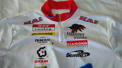 Vintage HAI bike sram continental cycling jersey