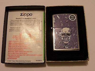 Unopened Zippo Purple Skull The Morning After