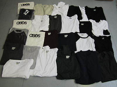 WHOLESALE JOBLOT Mens ASOS Basic T shirts with Long sleeves x 26 Brand New