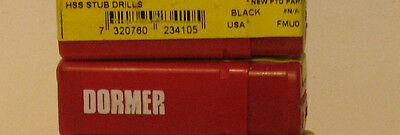 """One Lot Of 100 (Ten Boxes Of 10)  Dormer Drill Bits N19 Wire Size Approx 11/64"""""""