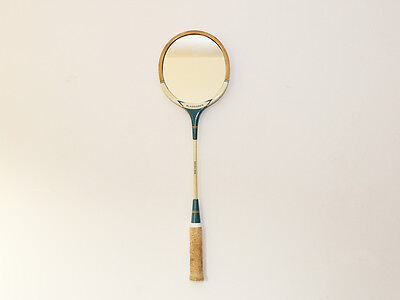 Vintage Squash Racket Mirror - Wooden - Up Cycled - Slazenger - Retro