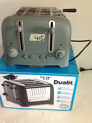 DUALIT 4 SLot Stainless steel  TOASTER in Gray