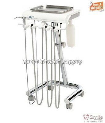Manual Control Delivery Cart for 2 Handpieces w/Premium Vacuum DCISeriesIV #4240