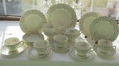 23 Pcs Myott Old Chelsea Staffordshire England Fascination L281 Dinner Set +More