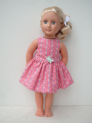 Pink doll dress 18 dolls clothes,My friendCayla,Our Generation, American girl