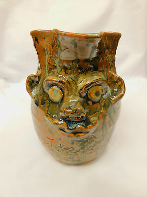 Southern Folk Pottery Face Jug by Marie Rogers