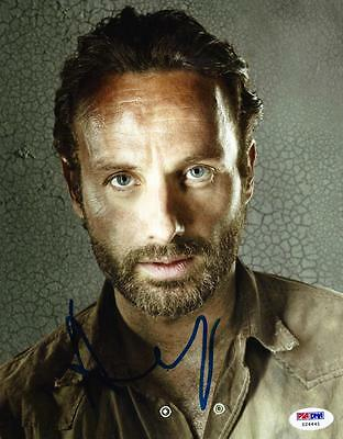 Andrew Lincoln Signed 8X10 Photo The Walknig Dead Autograph Psa/ Dna Proof F
