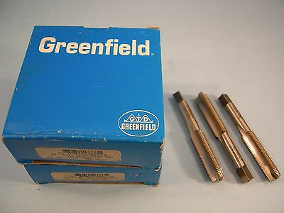Qty of 3 Greenfield 1/2-20 NF Taps HSS GH2 HSS 3 Flute Spiral Point Plug