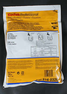Kodak black & white FIXER for film & paper--makes 1 Gallon 5160320