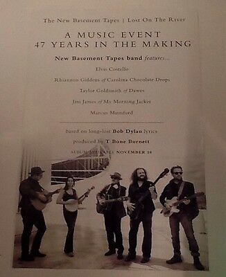 The New Basement Tapes, w/ Bob Dylan Lyrics Record Store CD Release Promo Poster