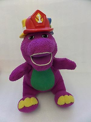 """Barney Silly Hats 11"""" Plush Barney Toy Play N Learn Songs Colours Movement"""