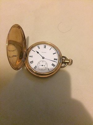Elgin 1911 Gold Filled Pocket Watch - Working Well