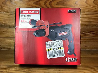 """NEW Craftsman Professional 8.0 amp Corded 1/2"""" Hammer Drill Driver - 917591"""