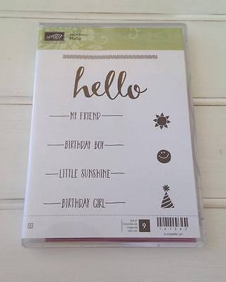 Stampin Up Hello -  Retired Clear stamp set
