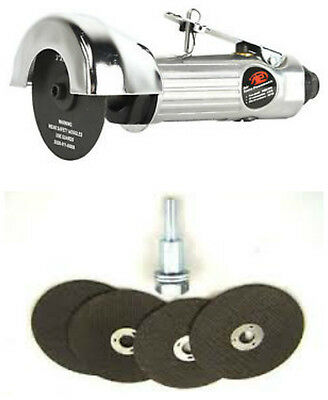 "3"" High Speed Pneumatic Air Cut Off Tool Metal + 4pc 3 "" Cut Off Wheel w Mandrel"