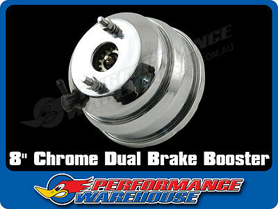 Chrome 8 Inch Dual Diaphragm Power Brake Booster Street Rod Hot Rod