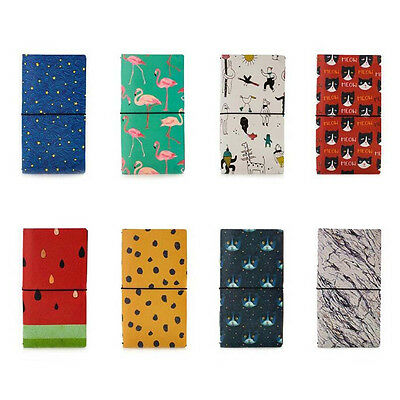 2in1 PU Leather Notebook Travel Planner Trip Schedule Diary Note Book Memo #JP