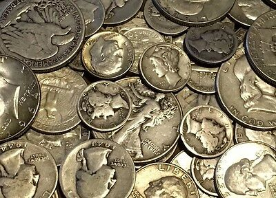 1/2 Pound (8 Oz) of 90% US Silver Coins -Pre 1965-No Junk!