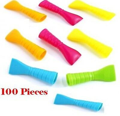 100 Multi-Color Female Mouth Pieces for Hookah Pipe-Disposable Hose Tips