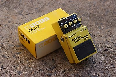 1986 Boss OD-2 Turbo Overdrive MIJ Japan Vintage Effects Pedal w/Box